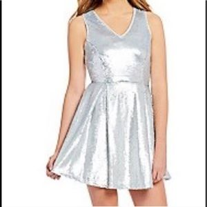 Silver sequins dress by Copper Key size S